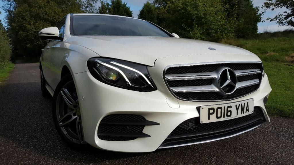 white mercedes e class amg - from £35