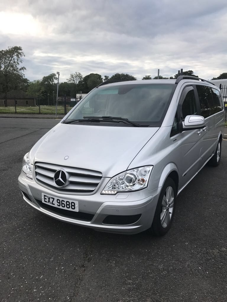 Silver Mercedes Viano 7 seater - From £43