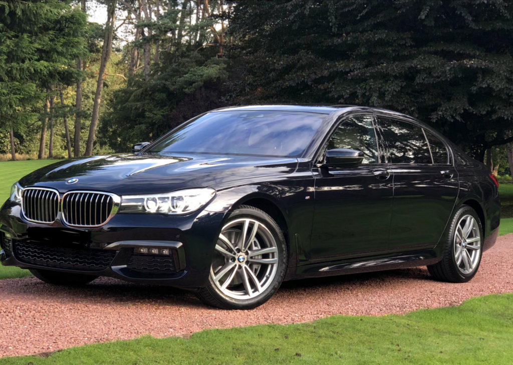 Black BMW 740 ld