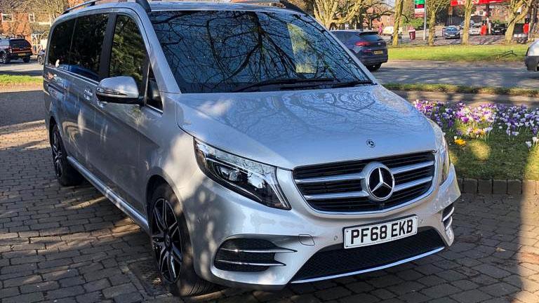 Silver Mercedes 7 Seater V Class Wedding Car Hire