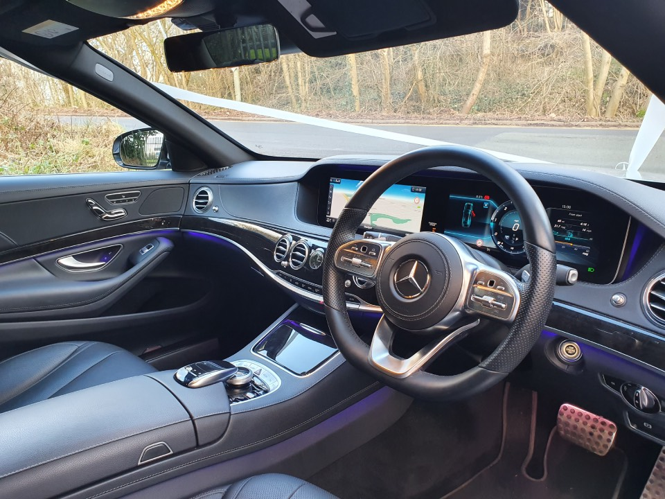 luxury chauffered car hire interior